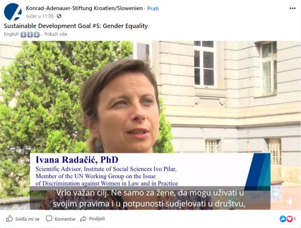 Talking Europe online: Sustainable Development Goal #5: Gender Equality, 19. 10. 2020.