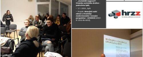 Projekt GENMOD: Muškarci u Dalmaciji: drukčiji ili isti?; Split