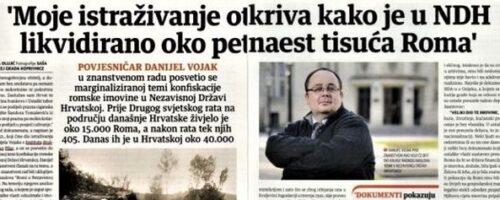 """Dr. sc. Danijel Vojak: """"Moje istraživanje otkriva kako je u NDH likvidirano oko petnaest tisuća Roma"""""""