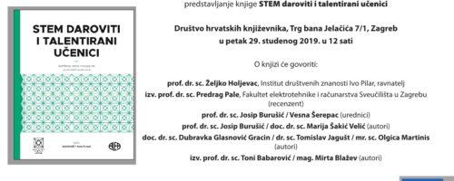 Predstavljanje knjige STEM DAROVITI I TALENTIRANI UČENICI; Zagreb