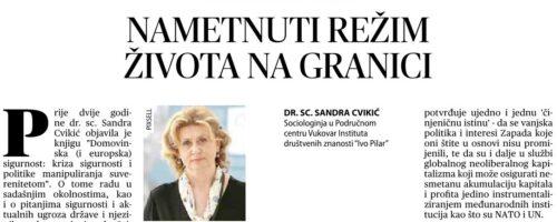 """Dr. sc. Sandra Cvikić: """"Nametnuti režim života na granici"""""""