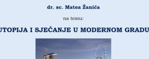 Tribina u Vukovaru: UTOPIJA I SJEĆANJE U MODERNOM GRADU